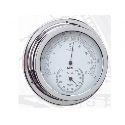 ANVI 150MM CHROOM THERMO - HYGROMETER