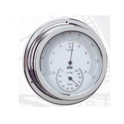 ANVI 150MM CHROOM THERMO - HYGROMETER