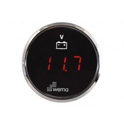 VOLTMETER LED 8 - 32 V - WEMA SILVER SERIE
