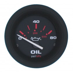 OLIEDRUK METER0-80 PSI 60 MM -VEETHREE AMEGA