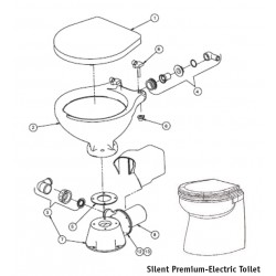 Wit Houten bril/deksel Silent-Electric Compact