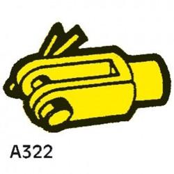 SEASTAR VORKEIND A322 VOOR KABELS MET M10