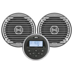MARINE AUDIO MA100 MET 2 SPEAKERS ZILVER