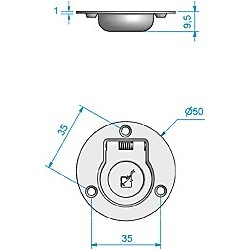 Luikring RVS rond 50 mm