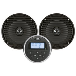 MARINE AUDIO MA100 MET 2 SPEAKERS ZWART