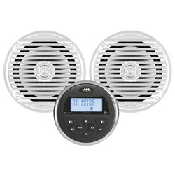 MARINE AUDIO MA100 MET 2 SPEAKERS WIT