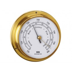 ANVI 120MM CHROOM  BAROMETER BLACK