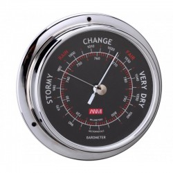 ANVI 250MM CHROOM BAROMETER BLACK