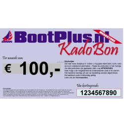 Kadobon voor 100 Euro -BootPlus-