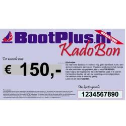 Kadobon voor 150 Euro -BootPlus-