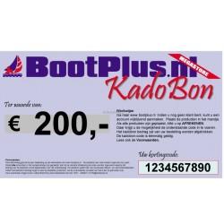 Kadobon voor 200 Euro -BootPlus-