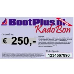 Kadobon voor 250 Euro -BootPlus-