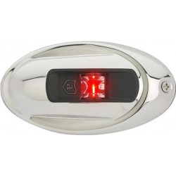 Attwood Ovalen RVS LED Bakboord zijmontage