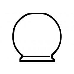 Kogelglas opaal 70 mm
