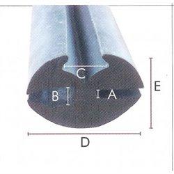 N.L.A. Raamrubber EPDM grijs 4/5 br. 27 mm