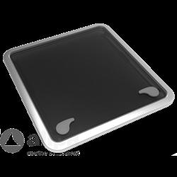 Goïot aluminium Dekluik OPAL 70 681 x 681 mm
