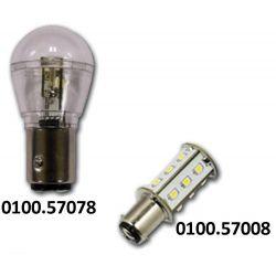 Hollex Ledlamp Ba15S | 10 - 30 Volt | Warm wit