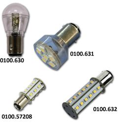 Hollex Ledlamp Ba15D | 10 - 30 Volt | Warm wit