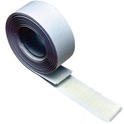 Velcro zelfklevend klittenband 25 mm., haak + lus, wit