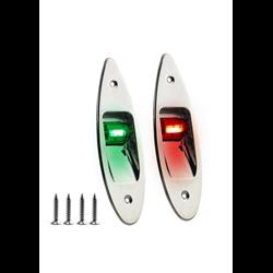 LED Navigatieverlichting Set Inbouw RVS