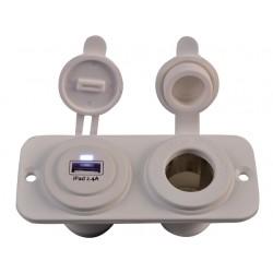 USB & 12 VOLT CONTACT INBOUW