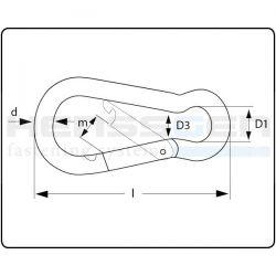 Sleutelhanger Karabijnhaak Aluminium