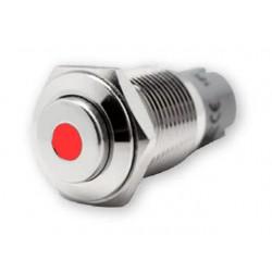Drukschakelaar RVS LED verlicht 24V 3A