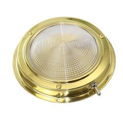 Messing LED-plafondlamp opbouw 12V