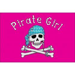 Pirate girl - piraten vlag