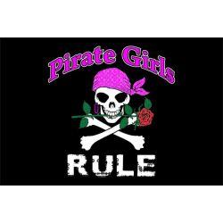 Pirate girls rule - piraten vlag