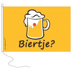 Vlag met opschrift Biertje?