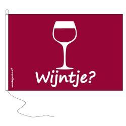 Vlag met opschrijft Wijntje ?
