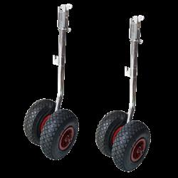Transportwielen opklapbaar met dubbele wielen