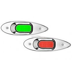 .LED BAKBOORD & STUURBOORD INBOUW RVS